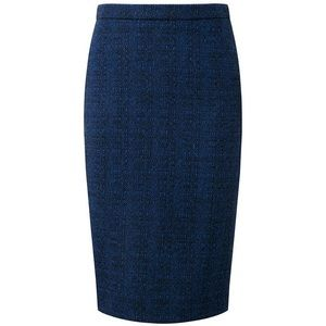 Pure Collection Wool Pencil Skirt Black and Blue 4